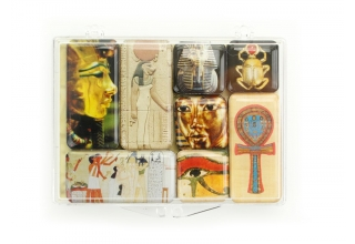 Refrigerator Mini Magnets - Egyptian motifs set of 8