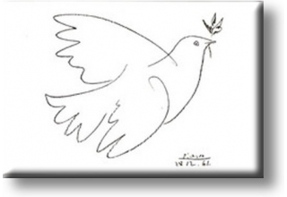 Fridge Magnets Picasso Dove of Peace