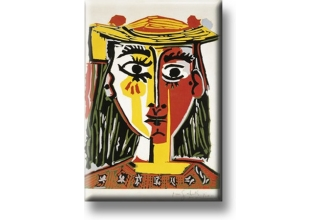 Fridge Magnets Picasso Head of a Woman in a Hat