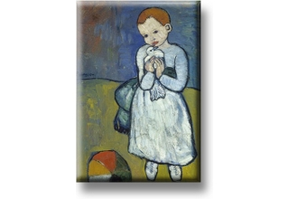 Fridge Magnets Picasso Child with a Dove