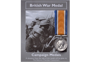 BRITISH WAR MEDAL MINI REPLICA
