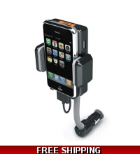 FM Transmitter Hands Free Car Kit iPod iPhone 3G S 4G & 4G S
