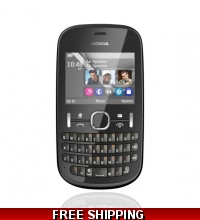 Nokia Asha 200 Dual Sim Qwerty Unlocked Mobile Phone Grey 8GB