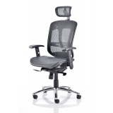 Mesh high back office chair with adjus..