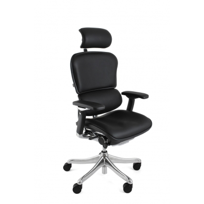 luxury leather office chair. ergohuman plus luxury leather office chair with headrest 6