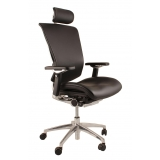 Nefil Leather office chair with headre..
