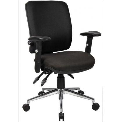 back posture task office chair with adjustable arms