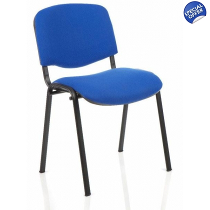 4 leg stacking black framed conference/ meeting room chair