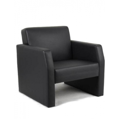 Leather Reception Single Seat Armchair