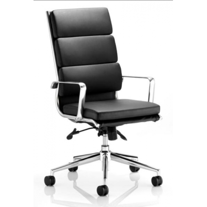 Contemporary leather high back executive office chair
