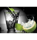 COCO Natura® Coconut Water - GASTRO Green Glass Bottles 300ml READY MADE
