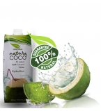 NATURA COCO Pure Premium Coconut Water, Natural Tetra packed 500ml