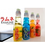 RAMUNE ラムネ Glass & PET Special Bottle 200ml - Japan Made Soda Beverage