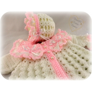 51 - Matinee Set Traditional Baby Coat & Bonnet