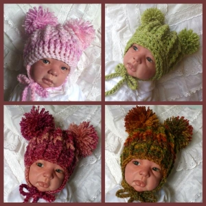 41 - Double Pom Pom Hat Crochet Pattern