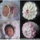 16 - Ruffled Baby Bonnet Crochet Pattern