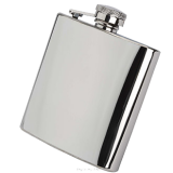 Grade B Shiny Hip Flasks x 84