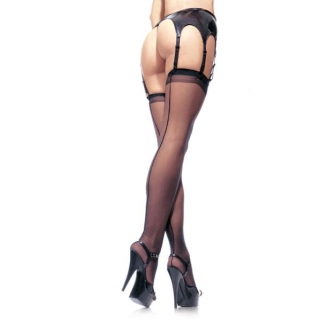 Sheer Black Stockings w..