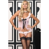 Babydoll Pink and Black - Leg Avenue L..