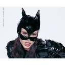 Black Cat Woman Mask Viny..