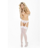 Suspender belt & thong white, red or b..