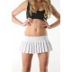 Very short white red or black pleated mini skirt