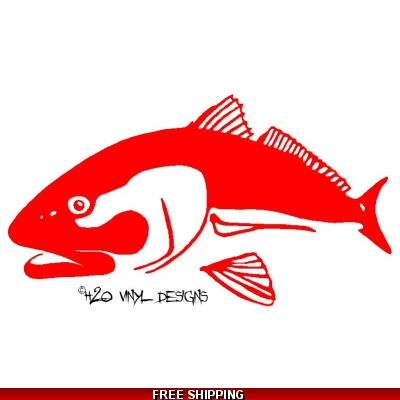 Redfish - Vinyl Sticker