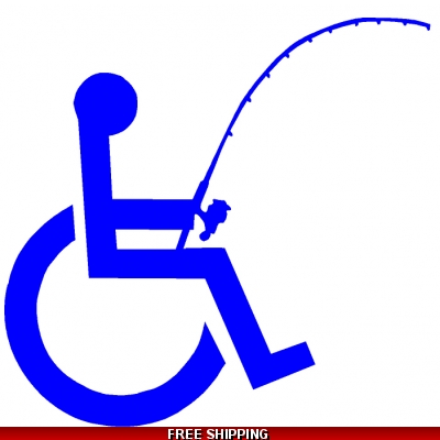 Handicap Fishing - Vinyl Sticker