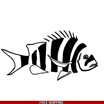 Sheepshead - Vinyl Sticker