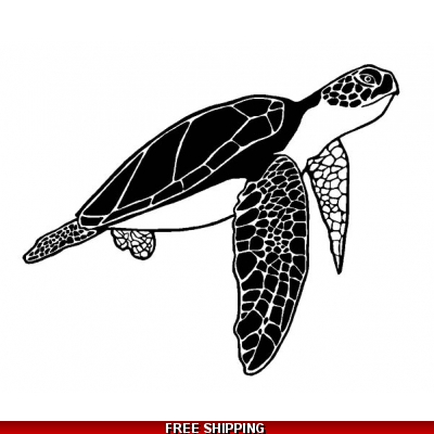 Sea Turtle - Vinyl Sticker - 17