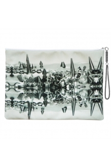Column Spike digitally printed portfolio clutch ..