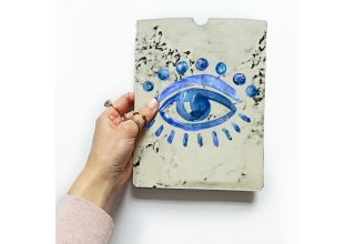 Trafalgar eye marble print leather iPad sleeve