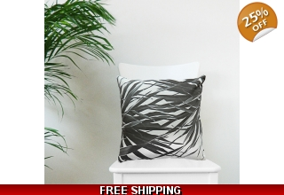 Kuta black and white cushion cover