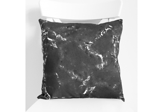 Black marble cushion cover