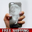 Luna Trio monogram phone case - white initails