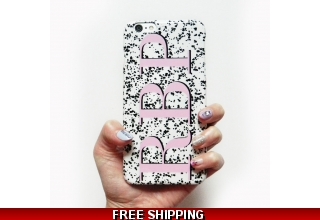 Regina pink monogram phone case - Large initials