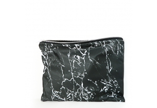 Black marble xl portfolio clutch bag