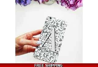 Regina grey alphabet phone case