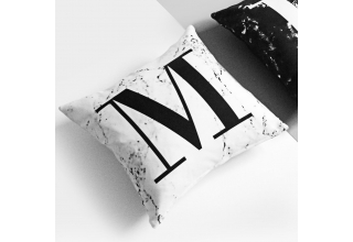 Marble alphabet cushion cover