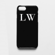 Black phone case with w..