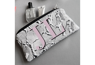 Concrete-Luxe make up bag - Pink monogram