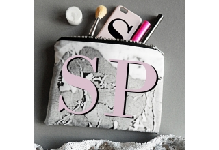 Concrete-Luxe Portfolio Clutch Bag - Pink monogram