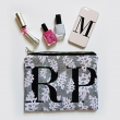 Pixelated Posies monogram portfolio clutch bag