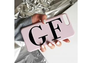 Dusty pink monogram phone case - Large initials