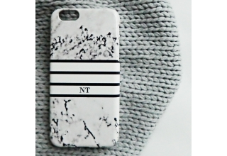 Monogram Marble print phone case - sports luxe
