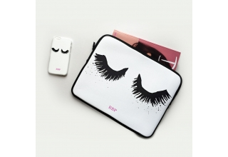 Upper East Eyelash monogram Laptop case