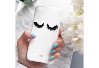 Upper East Eyelash monogram phone case - fuchsia