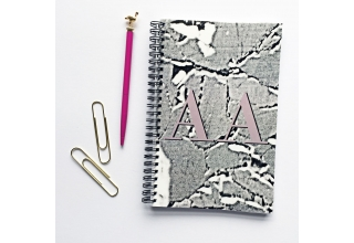 Concrete-Luxe alphabet notebook - Pink monogram