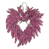 Lavender Heart Wreath pink