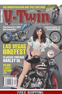 V-Twin Magazine cover, non-nude